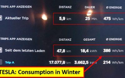 Tesla – Consumption in Winter