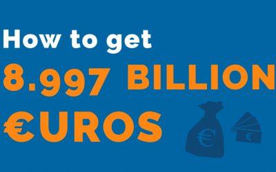How to get 8.997 billion euros